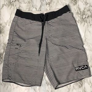 RVCA Striped Swimming Board Shorts Size 28